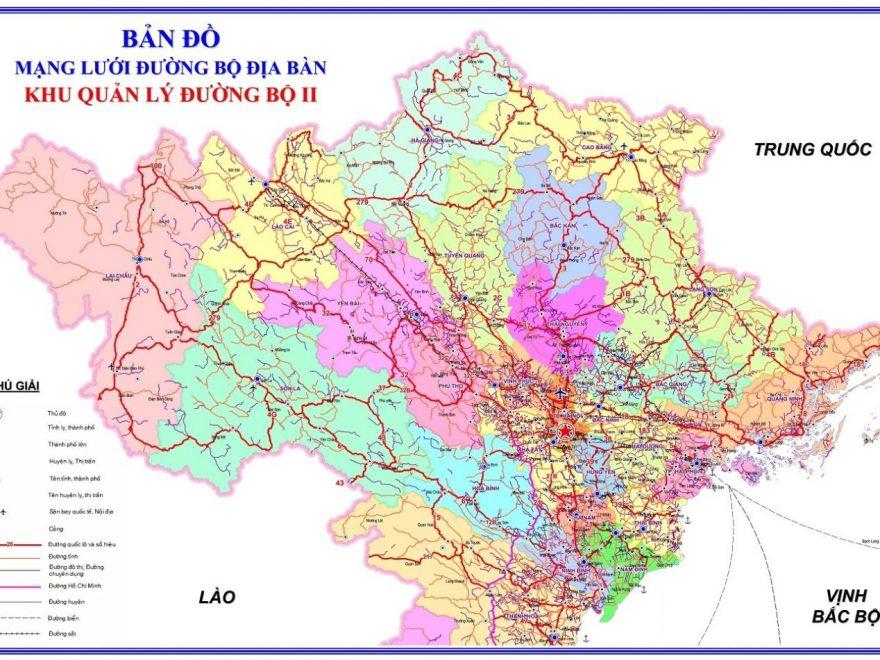 Bản đồ miền Bắc khổ lớn