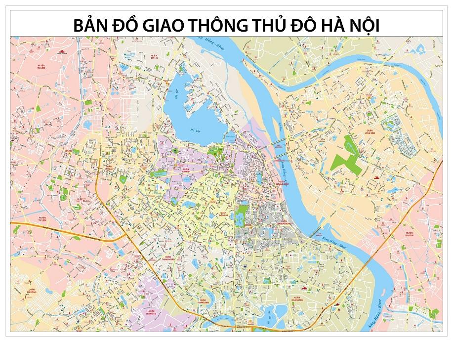 bản đồ đường xá hà nội