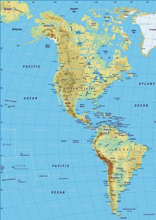 bản đồ châu mỹ