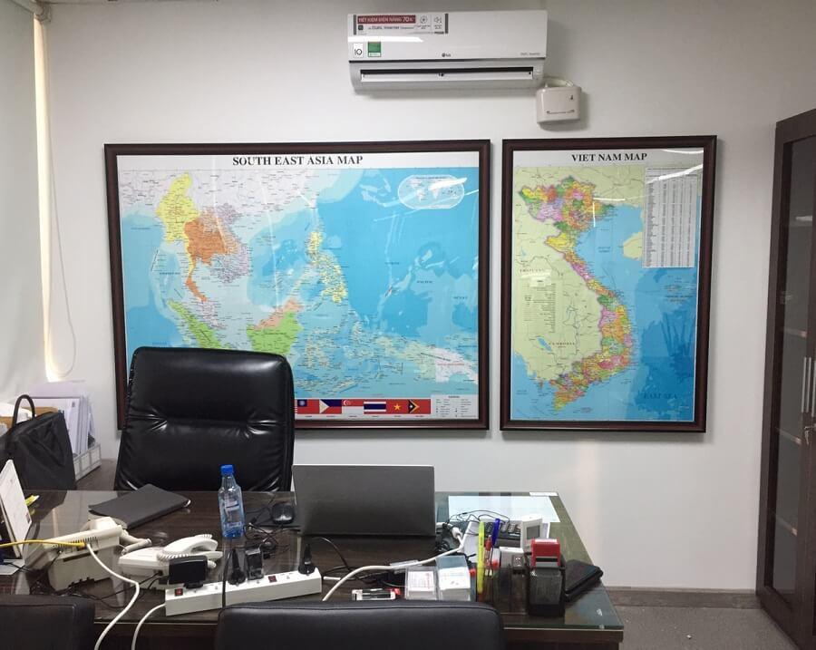 mua bản đồ Việt Nam tại cửa hàng bản đồ Trí Ân