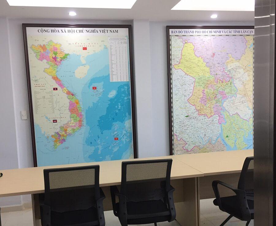 bán bản đồ việt nam khổ lớn tại cửa hàng Mặt Trời Đỏ