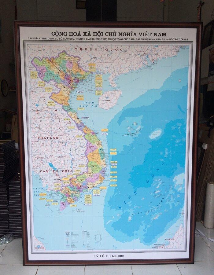 mua bản đồ Việt Nam tại cửa hàng ban do Map Design